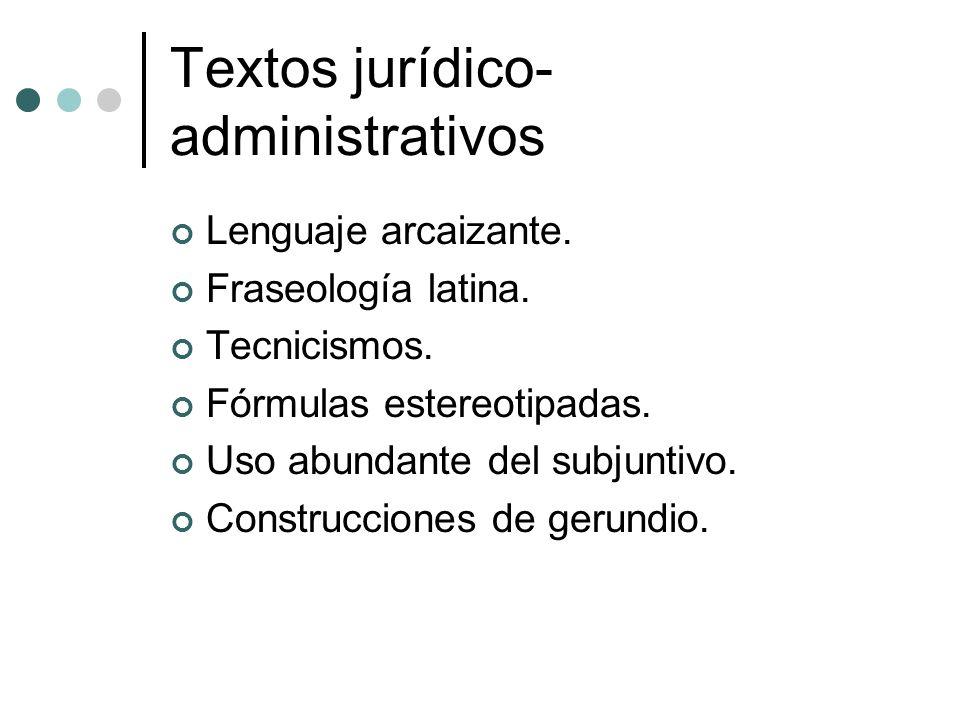 Textos jurídico-administrativos