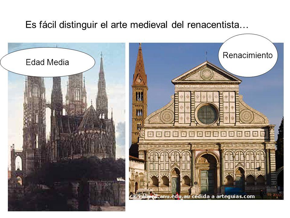 Es fácil distinguir el arte medieval del renacentista…