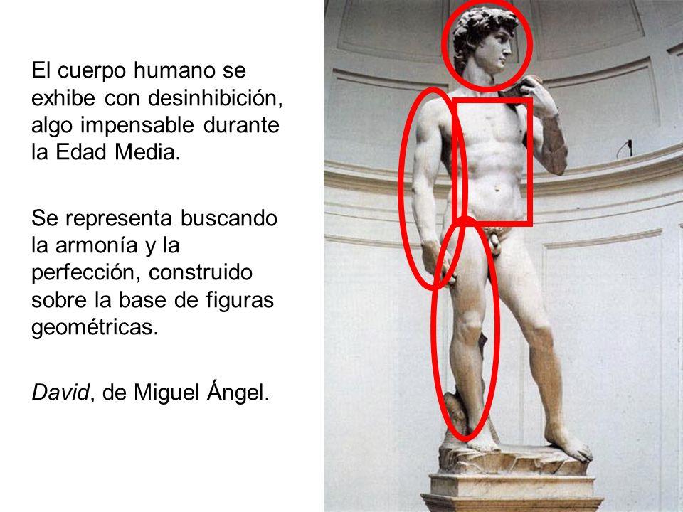 El cuerpo humano se exhibe con desinhibición, algo impensable durante la Edad Media.