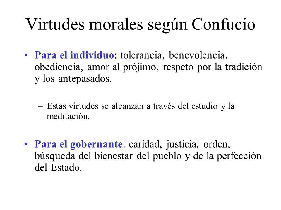 Virtudes morales según Confucio