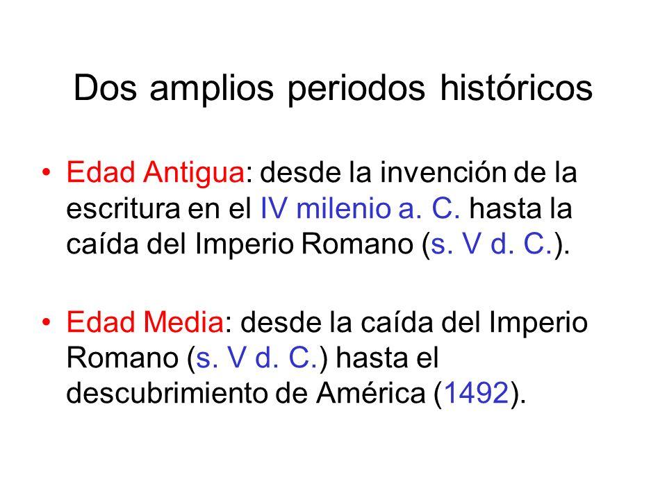 Dos amplios periodos históricos