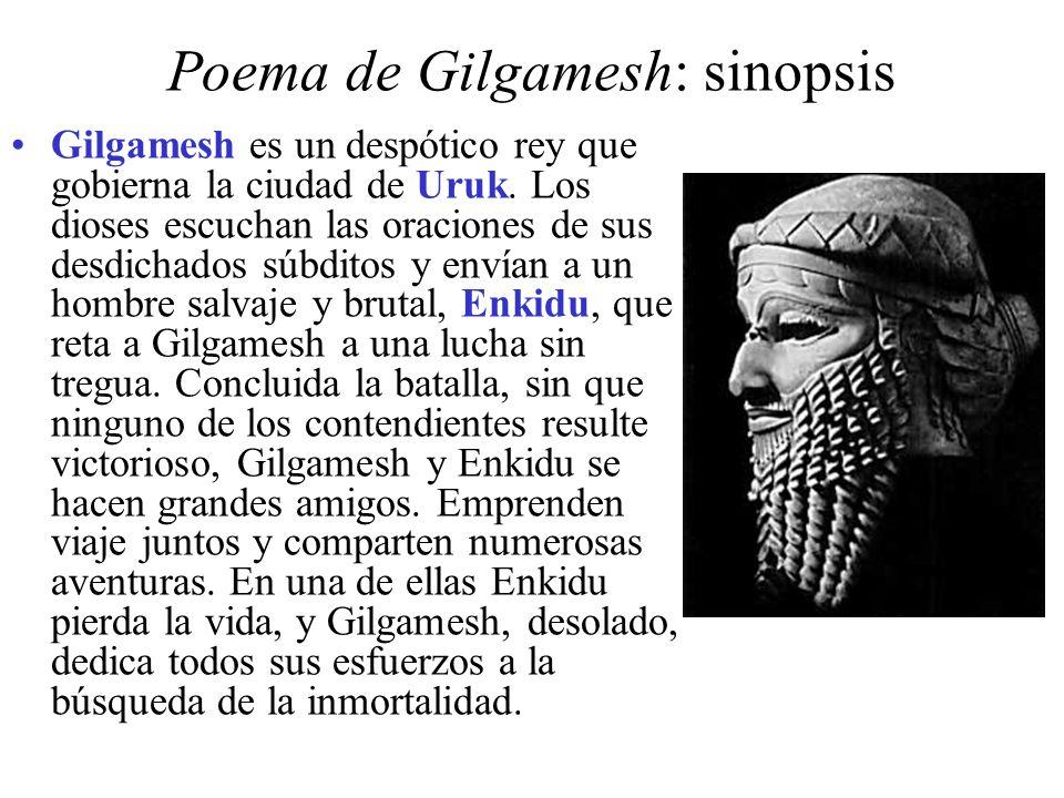 Poema de Gilgamesh: sinopsis