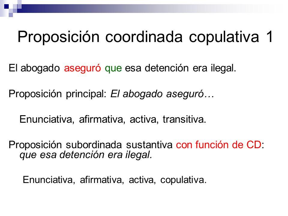 Proposición coordinada copulativa 1