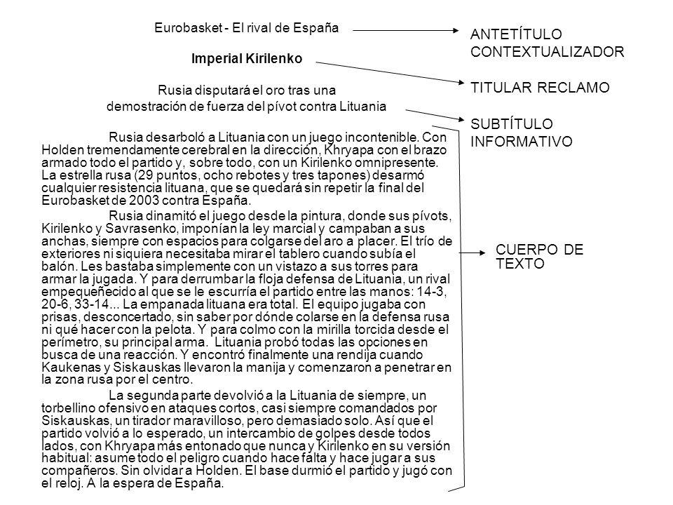 ANTETÍTULO CONTEXTUALIZADOR TITULAR RECLAMO SUBTÍTULO INFORMATIVO