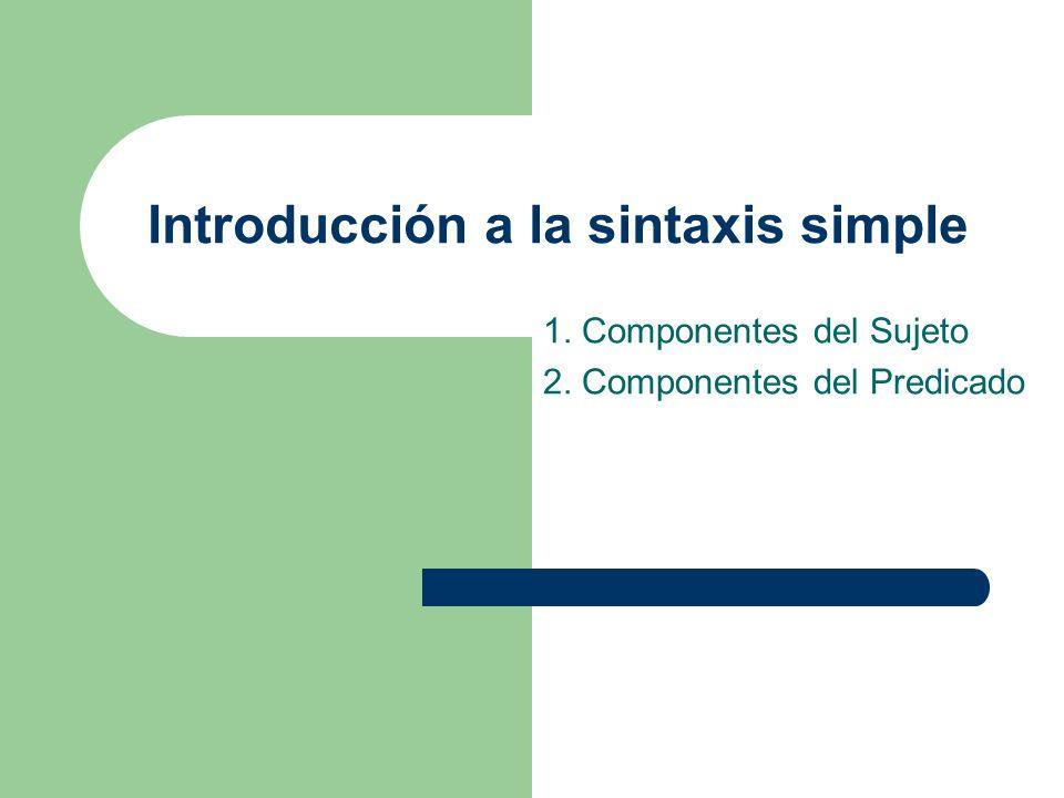 Introducción a la sintaxis simple