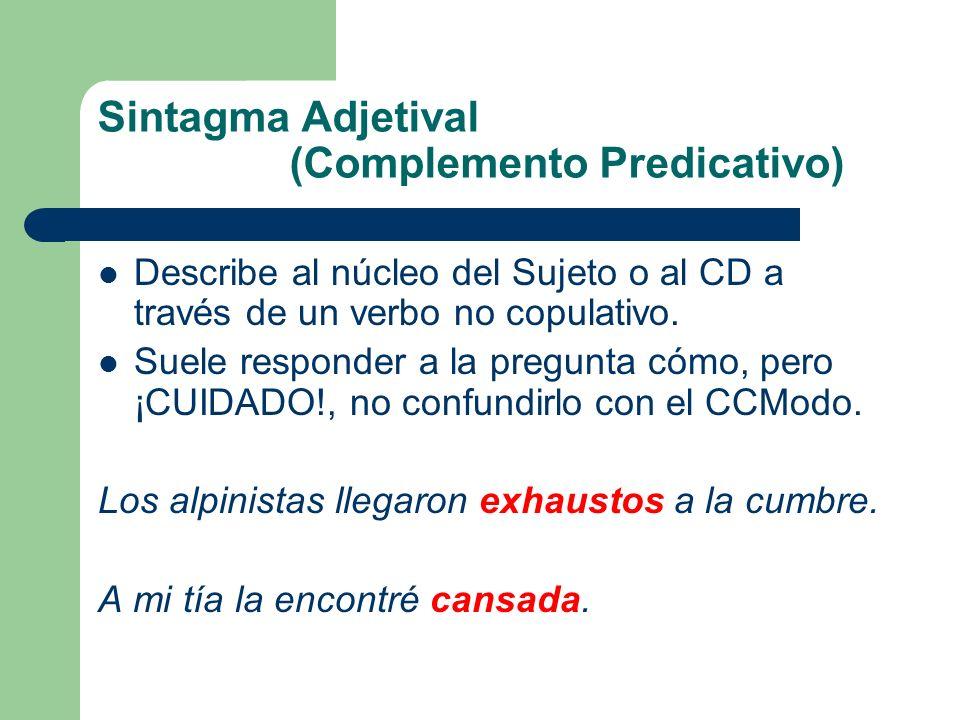 Sintagma Adjetival (Complemento Predicativo)
