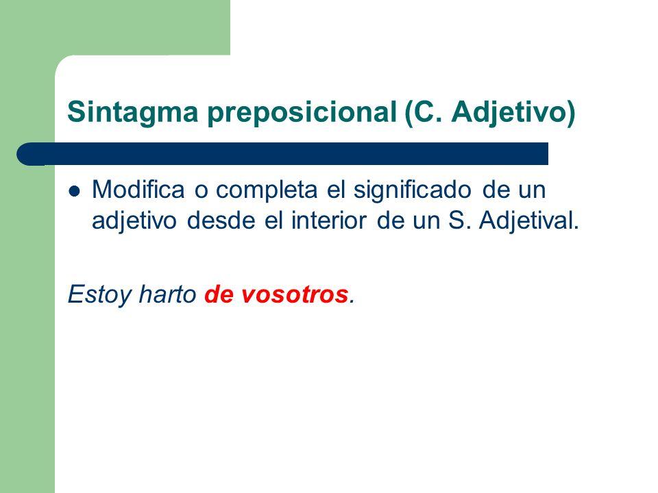 Sintagma preposicional (C. Adjetivo)