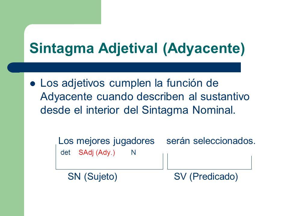 Sintagma Adjetival (Adyacente)