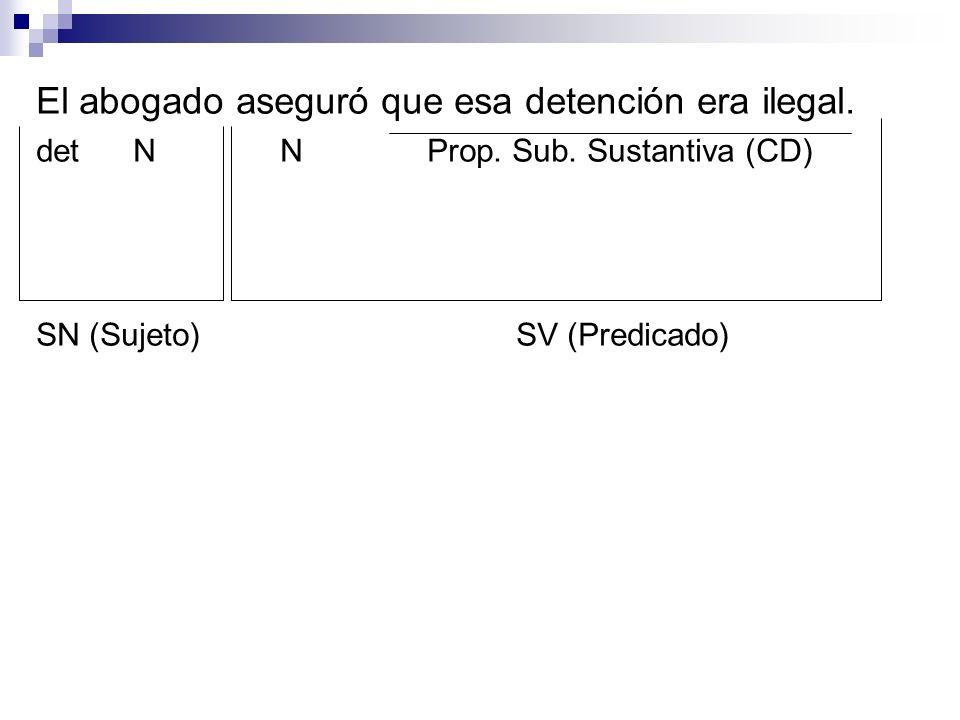 El abogado aseguró que esa detención era ilegal.