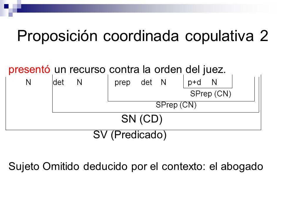 Proposición coordinada copulativa 2