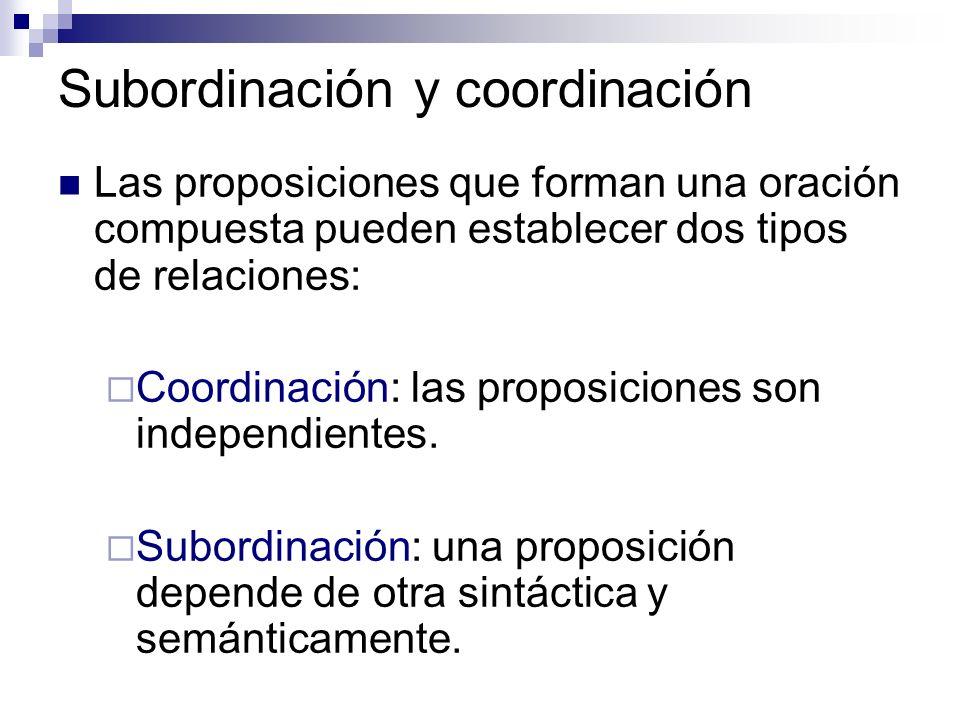 Subordinación y coordinación