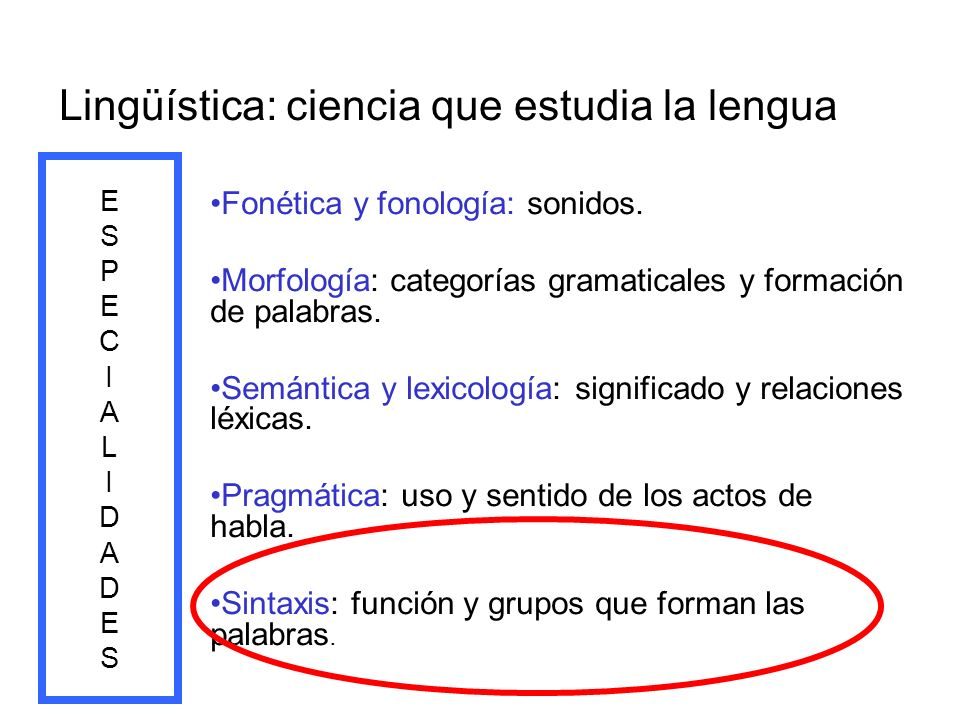 Lingüística: ciencia que estudia la lengua