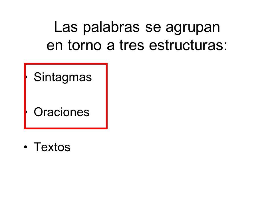 Las palabras se agrupan en torno a tres estructuras: