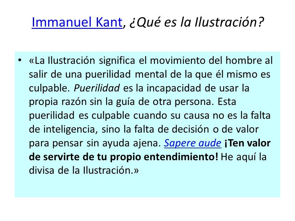 Immanuel Kant, ¿Qué es la Ilustración