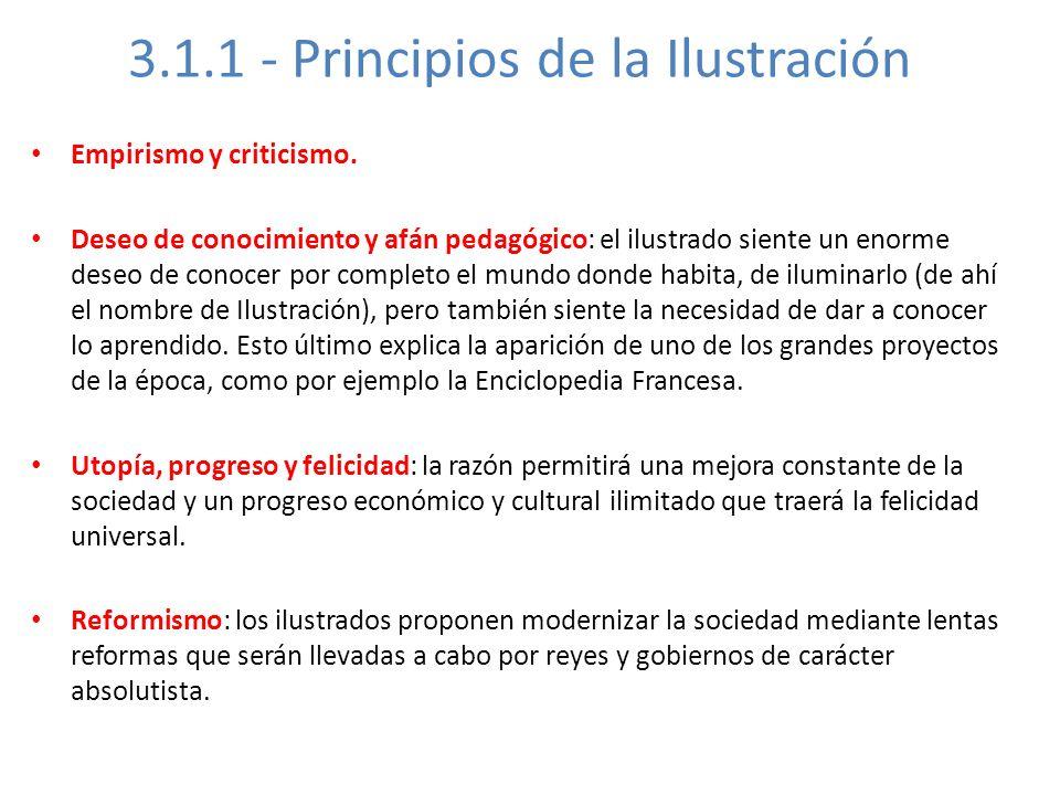 3.1.1 - Principios de la Ilustración