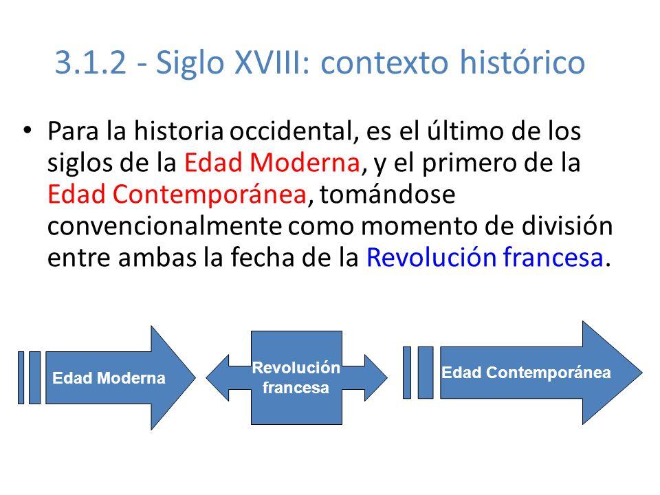 3.1.2 - Siglo XVIII: contexto histórico