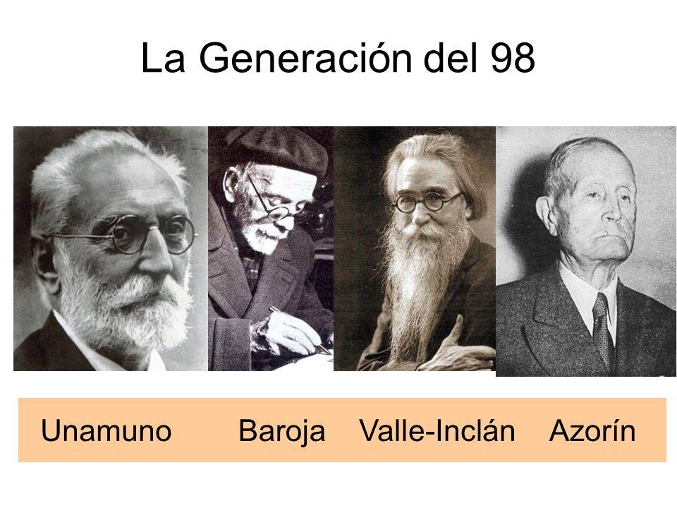 La Generación del 98 Unamuno Baroja Valle-Inclán Azorín