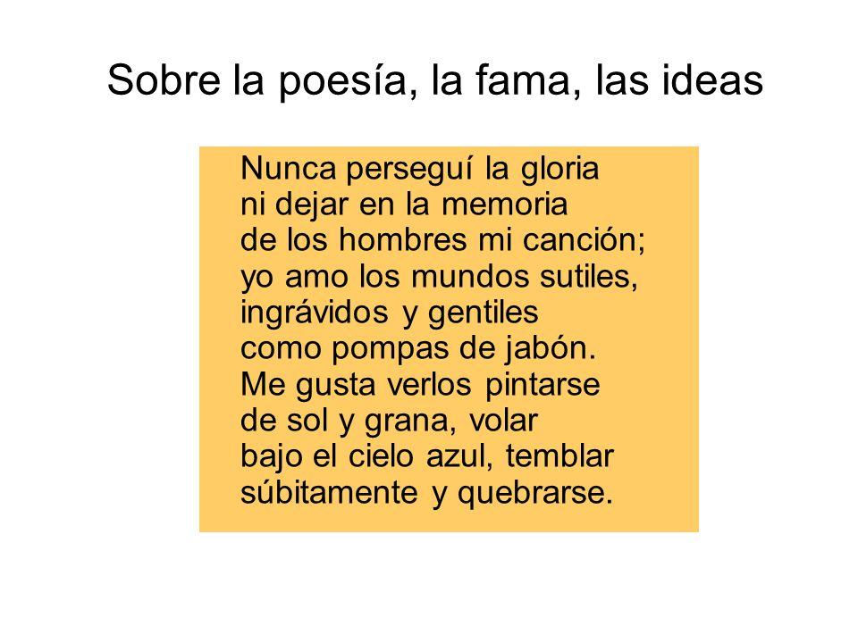 Sobre la poesía, la fama, las ideas