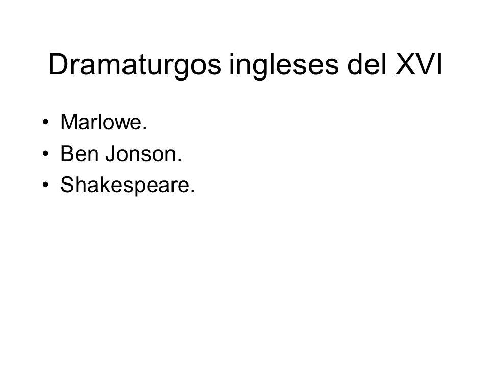 Dramaturgos ingleses del XVI