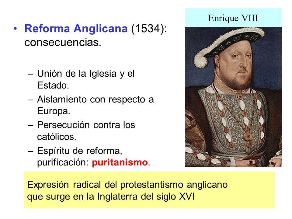 Reforma Anglicana (1534): consecuencias.
