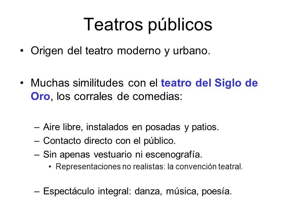 Teatros públicos Origen del teatro moderno y urbano.