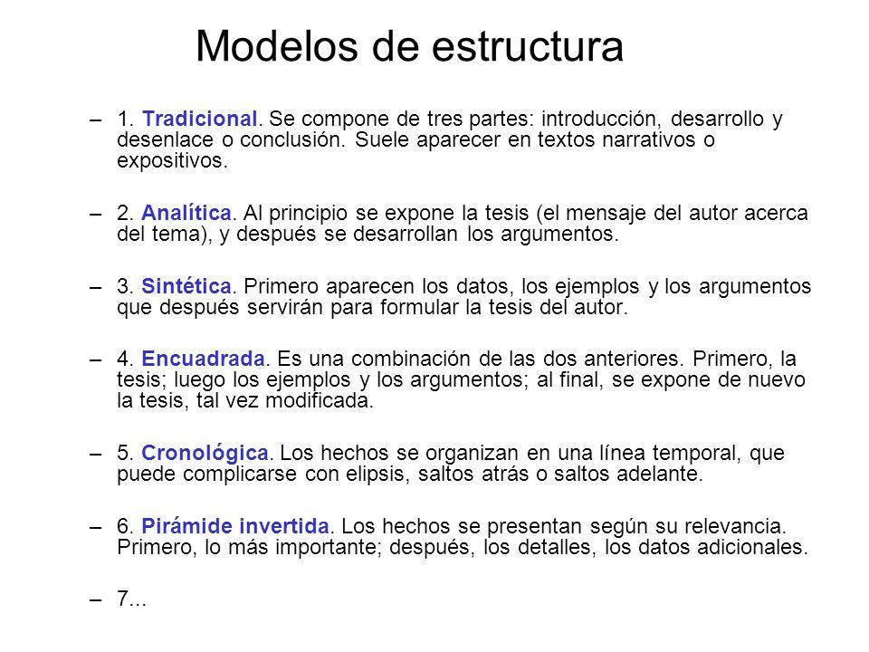 Modelos de estructura