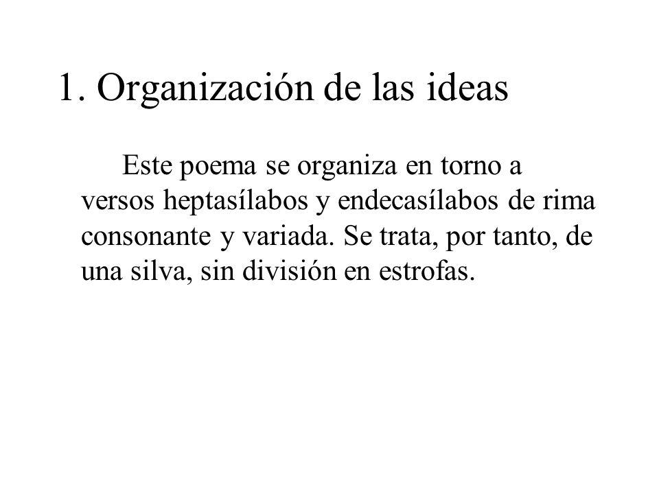 1. Organización de las ideas