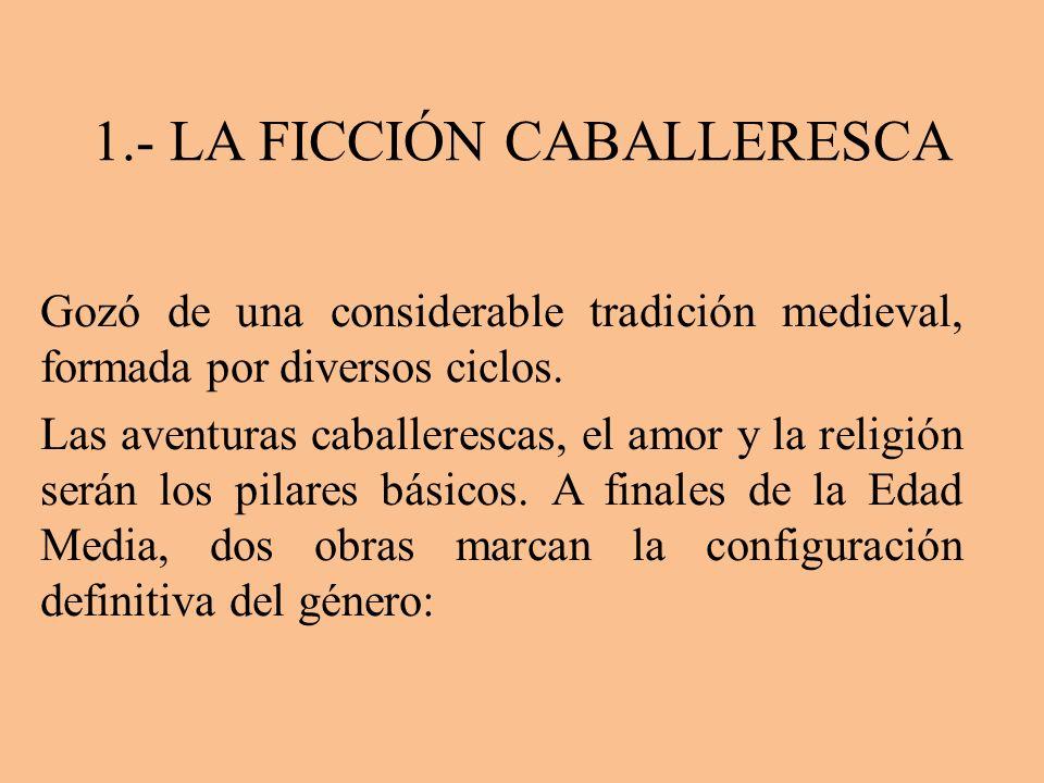1.- LA FICCIÓN CABALLERESCA