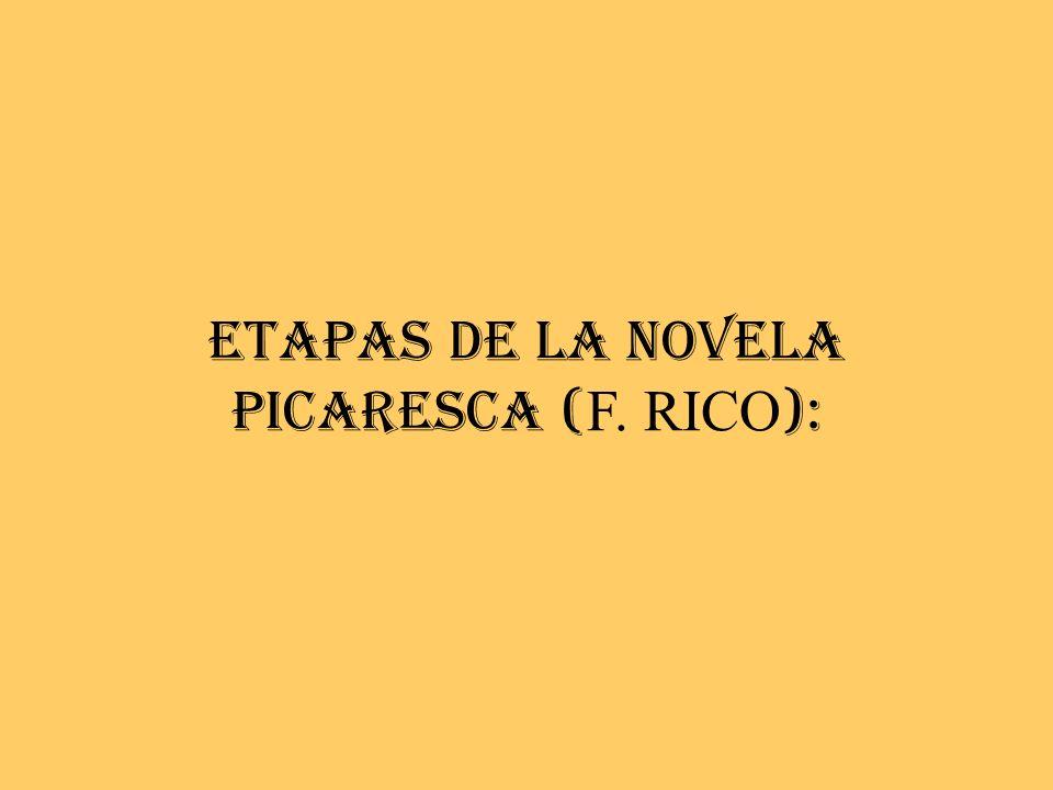 ETAPAS DE LA NOVELA PICARESCA (F. RICO):