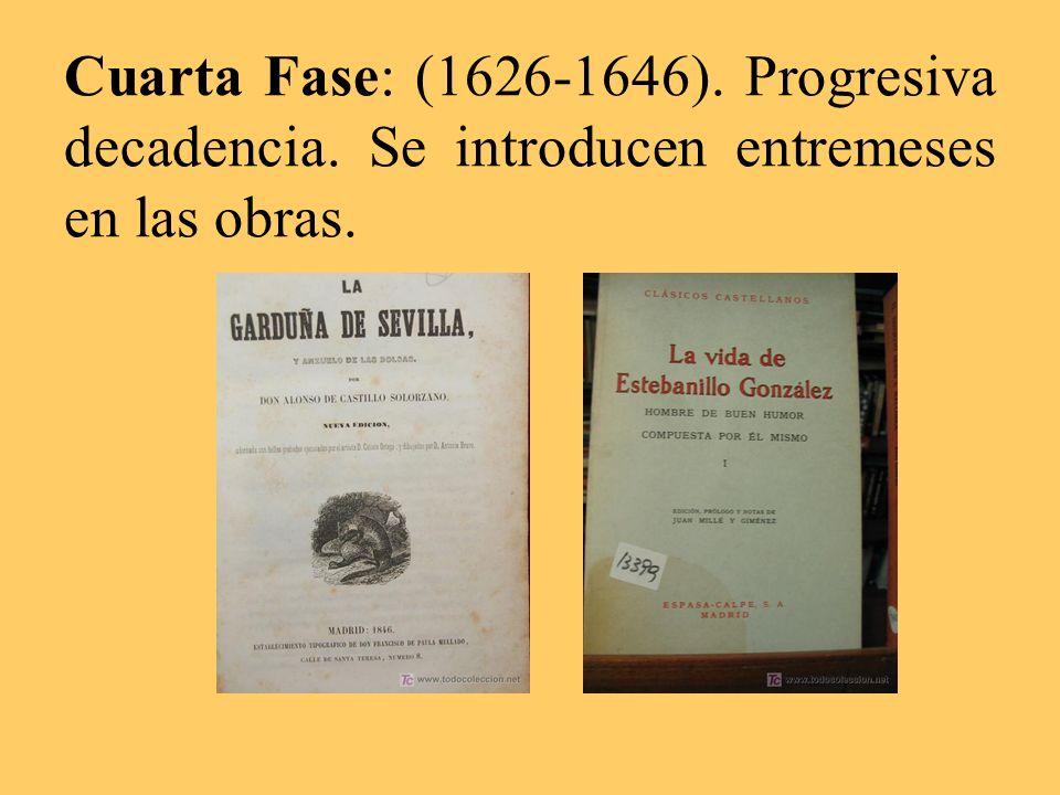 Cuarta Fase: (1626-1646). Progresiva decadencia