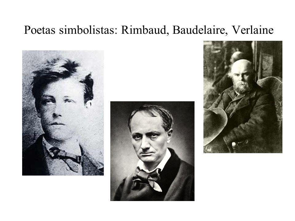 Poetas simbolistas: Rimbaud, Baudelaire, Verlaine