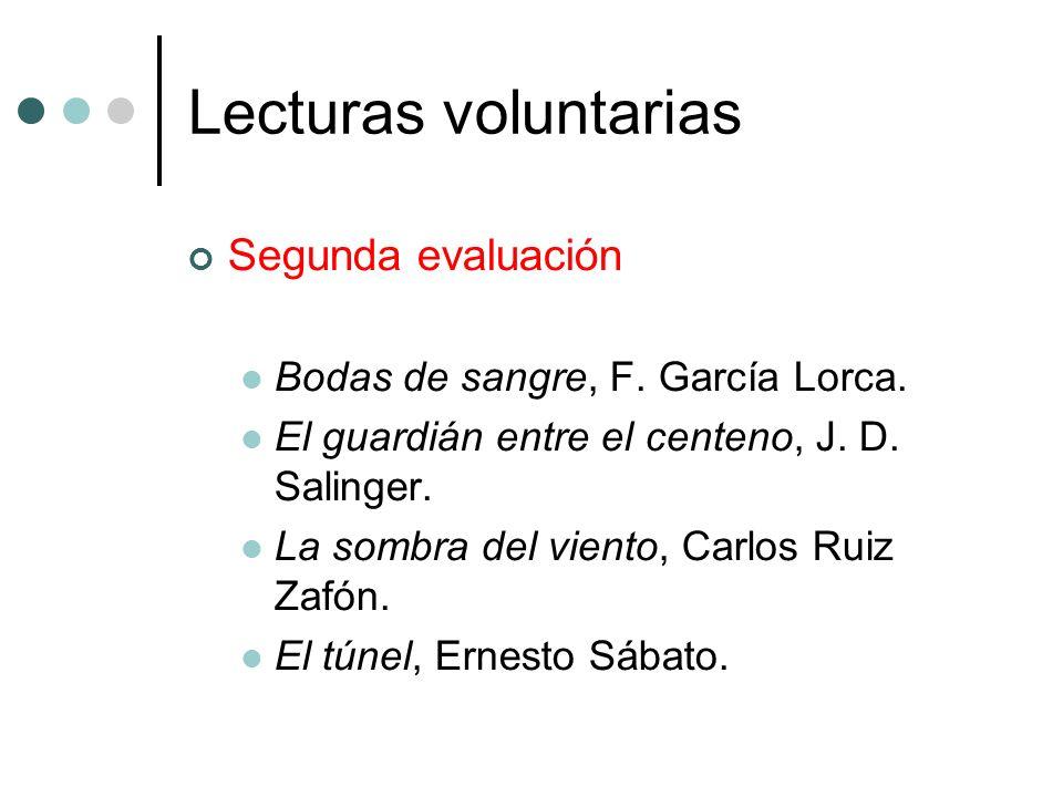 Lecturas voluntarias Segunda evaluación