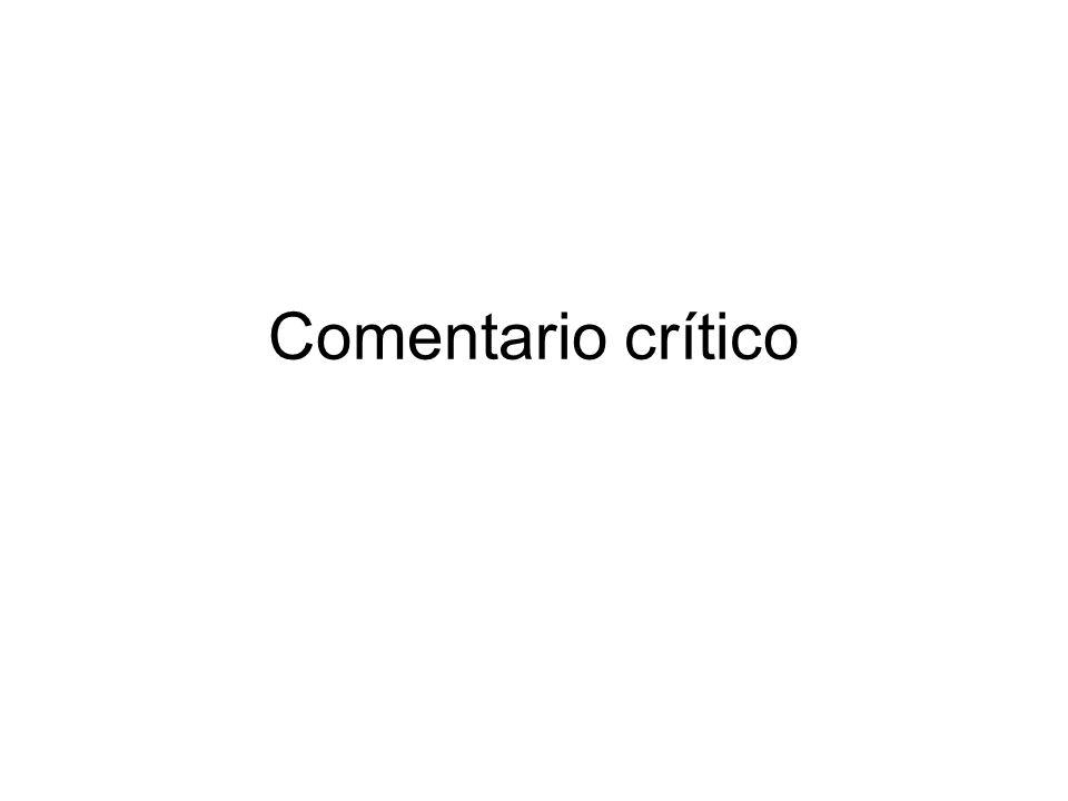Comentario crítico