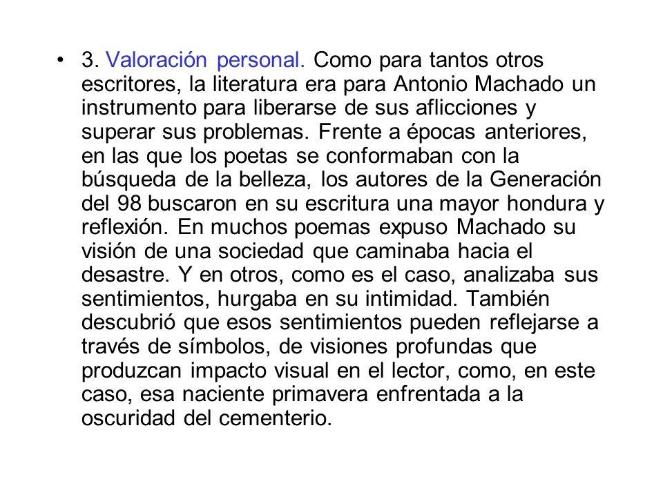 3. Valoración personal.