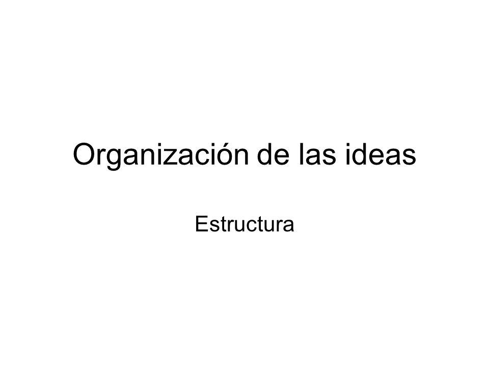 Organización de las ideas