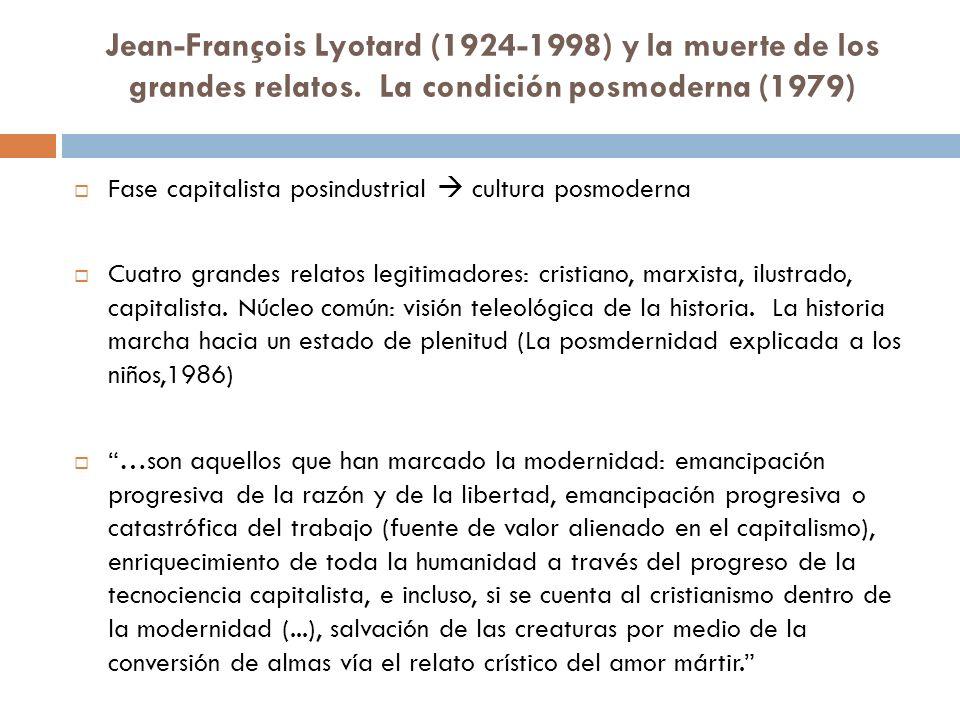 Jean-François Lyotard (1924-1998) y la muerte de los grandes relatos