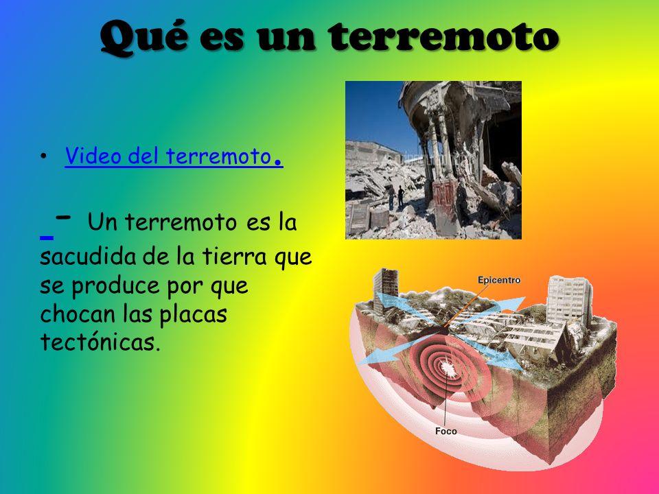 Qué es un terremotoVideo del terremoto.