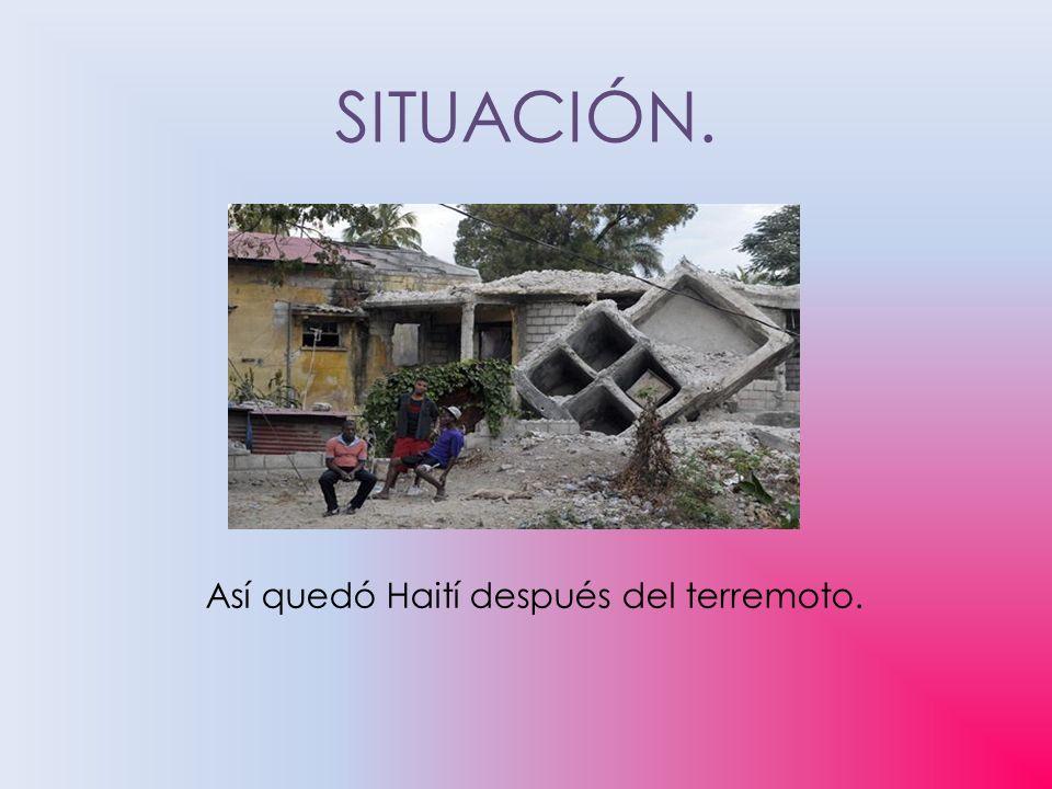 Así quedó Haití después del terremoto.