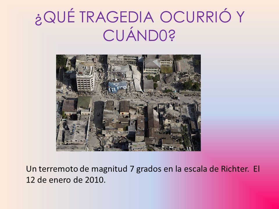 ¿QUÉ TRAGEDIA OCURRIÓ Y CUÁND0