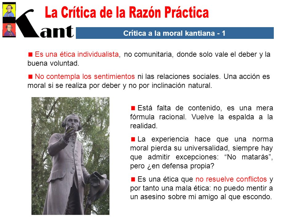 Crítica a la moral kantiana - 1