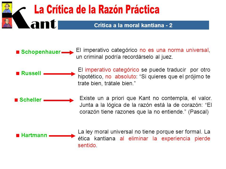 Crítica a la moral kantiana - 2
