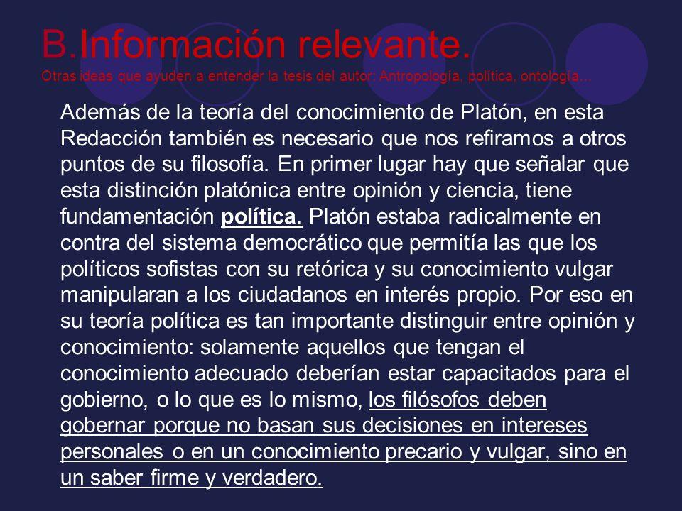 B. Información relevante