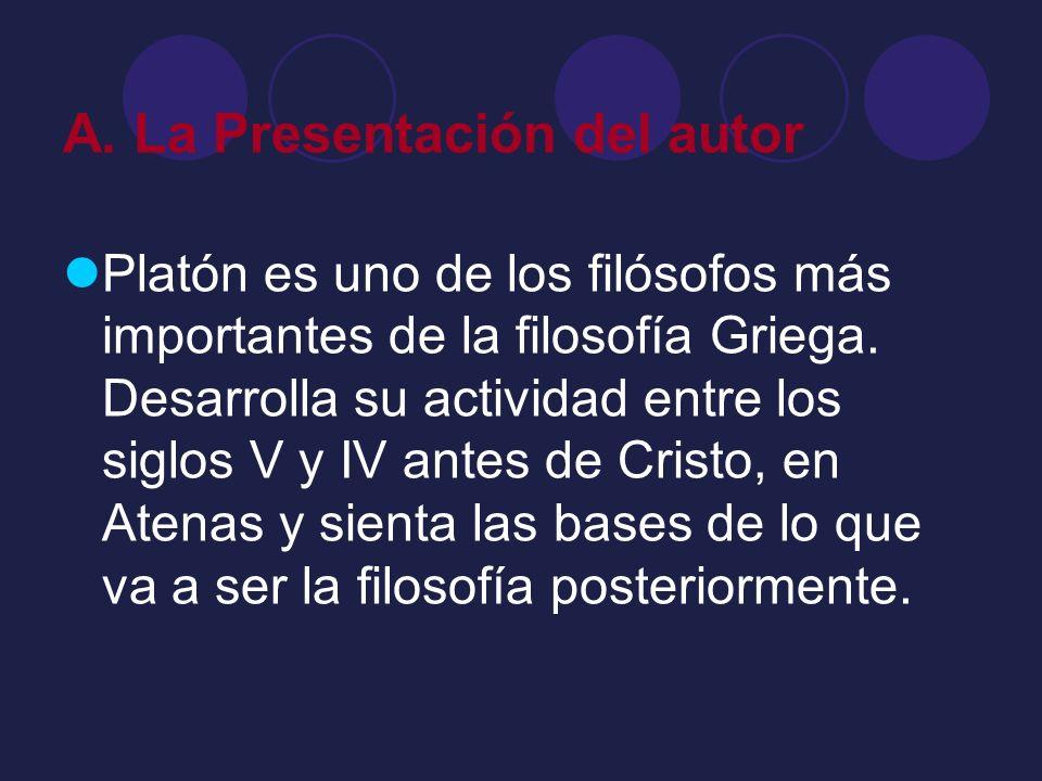 A. La Presentación del autor