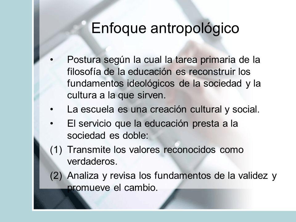 Enfoque antropológico