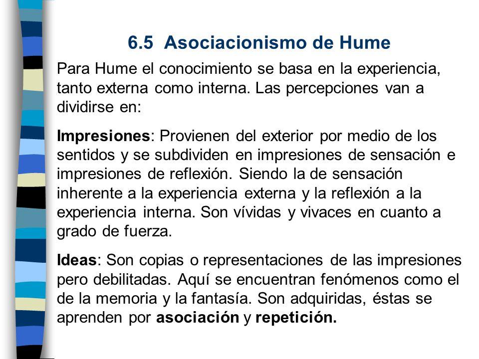 6.5 Asociacionismo de Hume