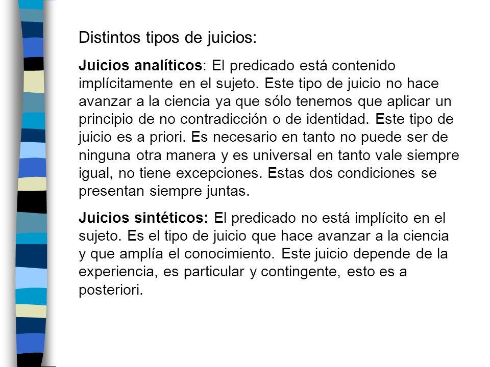 Distintos tipos de juicios: