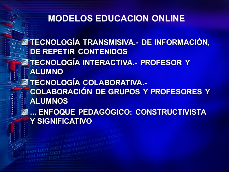 MODELOS EDUCACION ONLINE