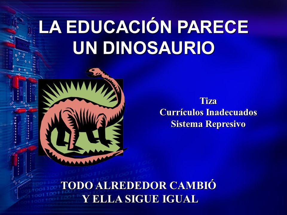 LA EDUCACIÓN PARECE UN DINOSAURIO Tiza Currículos Inadecuados