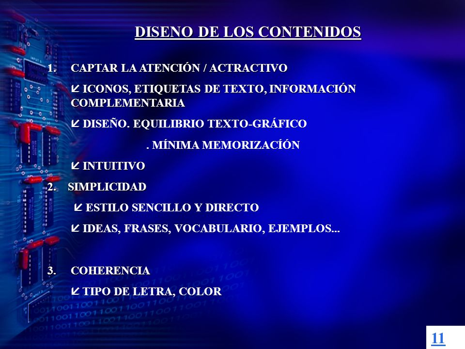 DISENO DE LOS CONTENIDOS