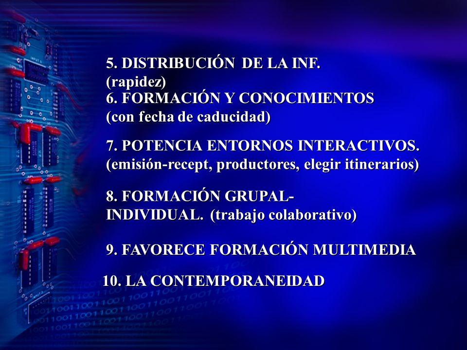 5. DISTRIBUCIÓN DE LA INF. (rapidez)